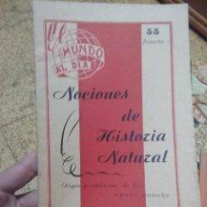 Libros antiguos: NOCIONES DE HISTORIA NATURAL, ENRIQUE RIOJA, EDICIONES UNIVERSO, TOULOUSE. Lote 252572640
