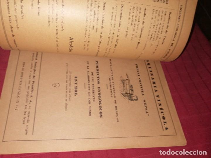 Libros antiguos: SEPSA - APARATOS DE QUÍMICA ENOLÓGICA - VILAFRANCA DEL PENEDÉS, CATÁLOGO ILUSTRADO, LEER DESCRIPCIÓN - Foto 7 - 253353095
