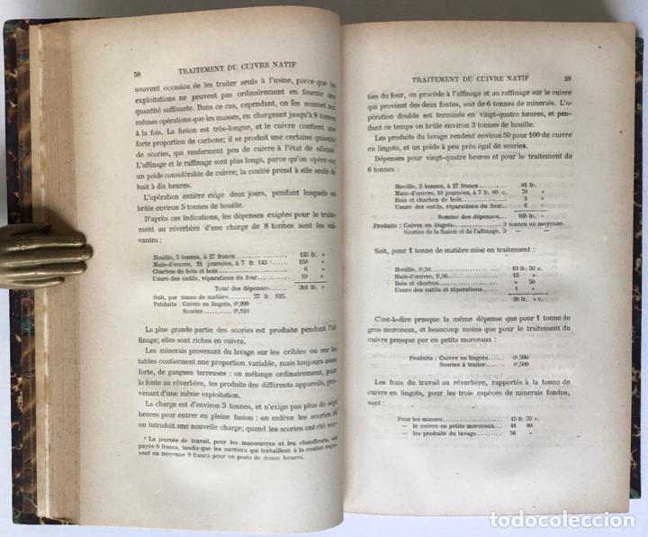 Libros antiguos: PRINCIPES GÉNÉRAUX DU TRAITEMENT DES MINERAIS MÉTALLIQUES. TRAITÉ DE MÉTALLURGIE THÉORIQUE ET PRATI - Foto 4 - 123238100