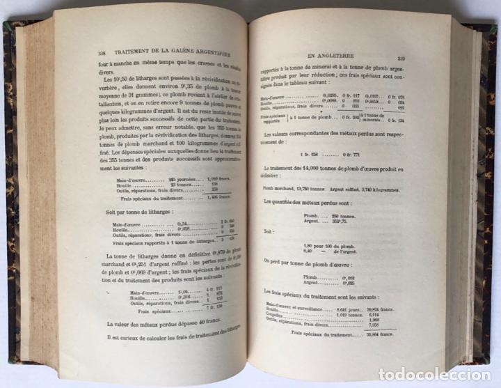 Libros antiguos: PRINCIPES GÉNÉRAUX DU TRAITEMENT DES MINERAIS MÉTALLIQUES. TRAITÉ DE MÉTALLURGIE THÉORIQUE ET PRATI - Foto 8 - 123238100