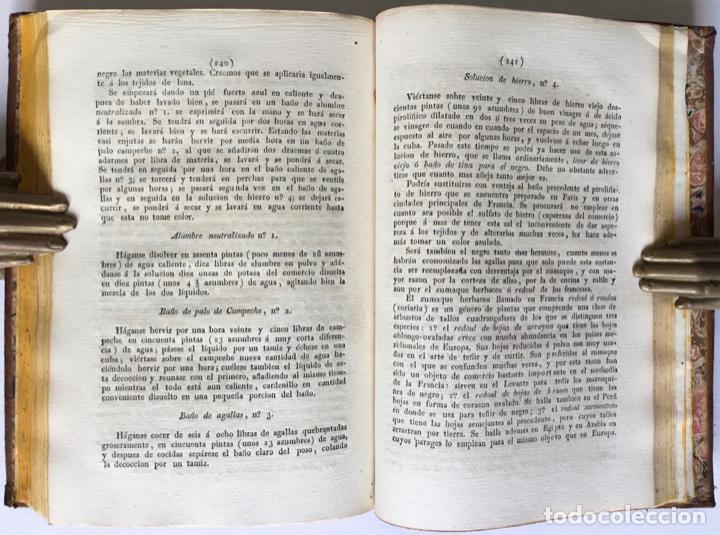 Libros antiguos: QUIMICA APLICADA A LA TINTURA Y BLANQUEO DE LA LANA, SEDA, LINO, CÁÑAMO Y ALGODON, Y AL ARTE DE IMPR - Foto 6 - 123260060