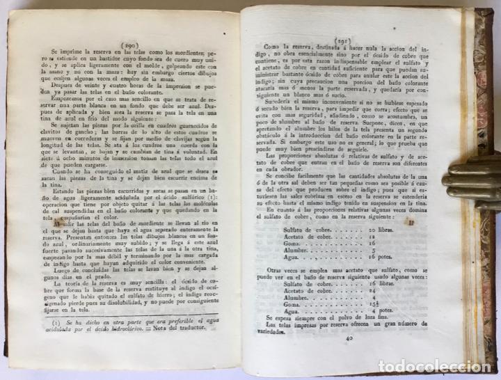 Libros antiguos: QUIMICA APLICADA A LA TINTURA Y BLANQUEO DE LA LANA, SEDA, LINO, CÁÑAMO Y ALGODON, Y AL ARTE DE IMPR - Foto 8 - 123260060