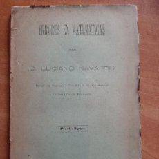Libri antichi: 1887 ERRORES DE MATEMÁTICAS - LUCIANO NAVARRO. Lote 252083075