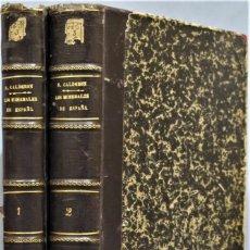 Libros antiguos: 1910.- LOS MINERALES EN ESPAÑA. CALDERON. 2 TOMOS. Lote 254423615