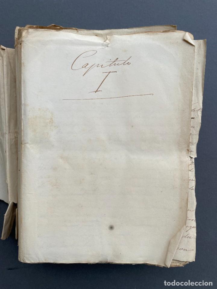 Libros antiguos: XIX - TRADUCCION MANUSCRITA AL ESPAÑOL DE EL ORIGEN DEL HOMBRE DE CHARLES DARWIN - - Foto 2 - 254757085