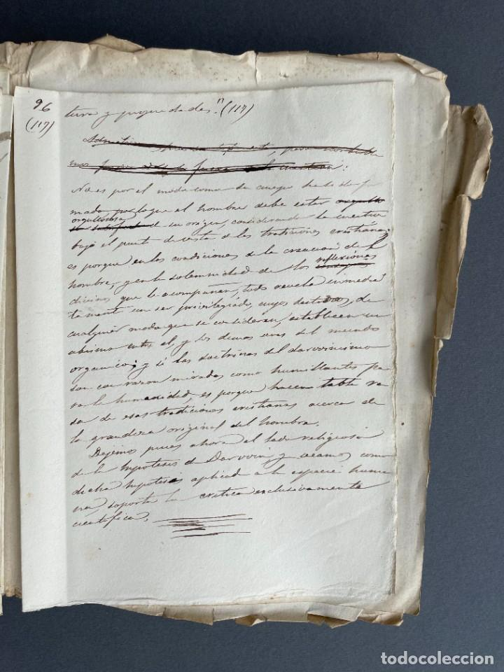 Libros antiguos: XIX - TRADUCCION MANUSCRITA AL ESPAÑOL DE EL ORIGEN DEL HOMBRE DE CHARLES DARWIN - - Foto 23 - 254757085