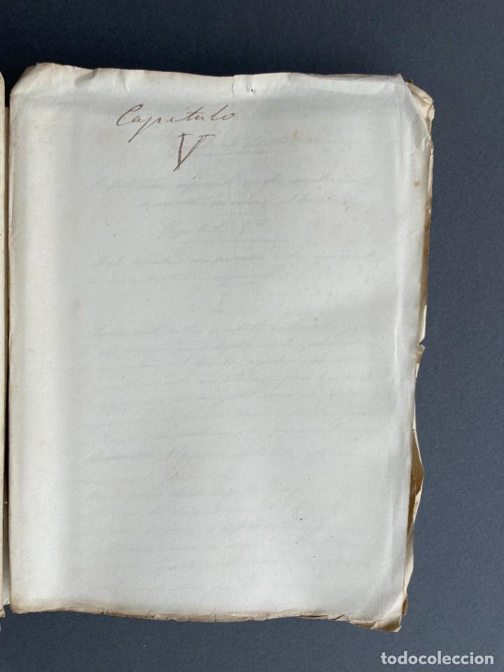 Libros antiguos: XIX - TRADUCCION MANUSCRITA AL ESPAÑOL DE EL ORIGEN DEL HOMBRE DE CHARLES DARWIN - - Foto 24 - 254757085