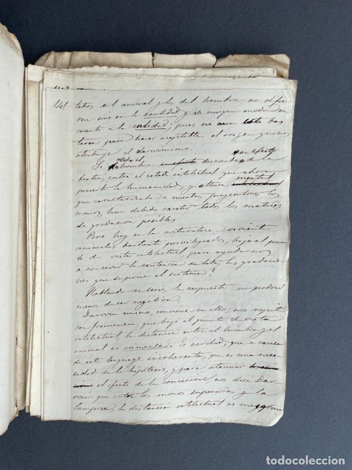 Libros antiguos: XIX - TRADUCCION MANUSCRITA AL ESPAÑOL DE EL ORIGEN DEL HOMBRE DE CHARLES DARWIN - - Foto 32 - 254757085