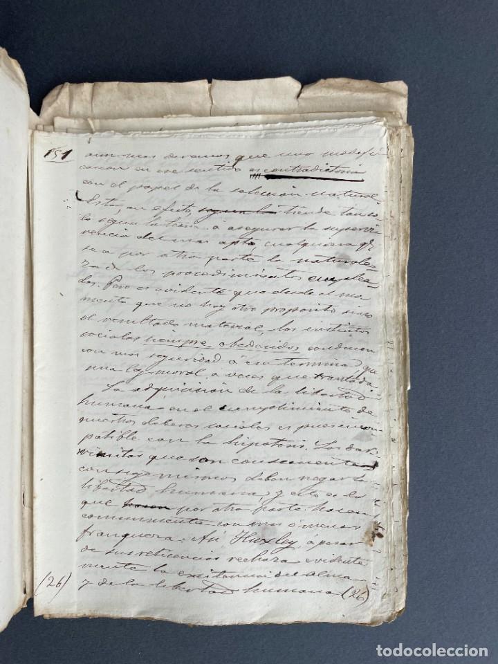 Libros antiguos: XIX - TRADUCCION MANUSCRITA AL ESPAÑOL DE EL ORIGEN DEL HOMBRE DE CHARLES DARWIN - - Foto 33 - 254757085