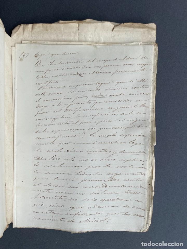 Libros antiguos: XIX - TRADUCCION MANUSCRITA AL ESPAÑOL DE EL ORIGEN DEL HOMBRE DE CHARLES DARWIN - - Foto 34 - 254757085