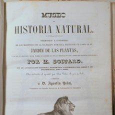 Libros antiguos: BOITARD, M. - MUSEO DE HISTORIA NATURAL. MAMÍFEROS - BARCELONA 1850 - MUY ILUSTRADO. Lote 254918585