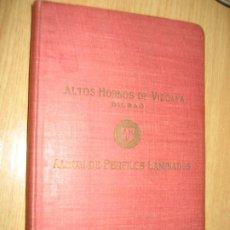 Libros antiguos: ALTOS HORNOS DE VIZCAYA . BILBAO . ALBUM DE PERFILES LAMINADOS 1931. Lote 256169430