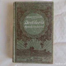 Libros antiguos: LIBRERIA GHOTICA. EUGENIO BOULLANGER. DESTILERIA AGRÍCOLA E INDUSTRIAL.1929. MUY ILUSTRADO.FORMUARIO. Lote 257358375
