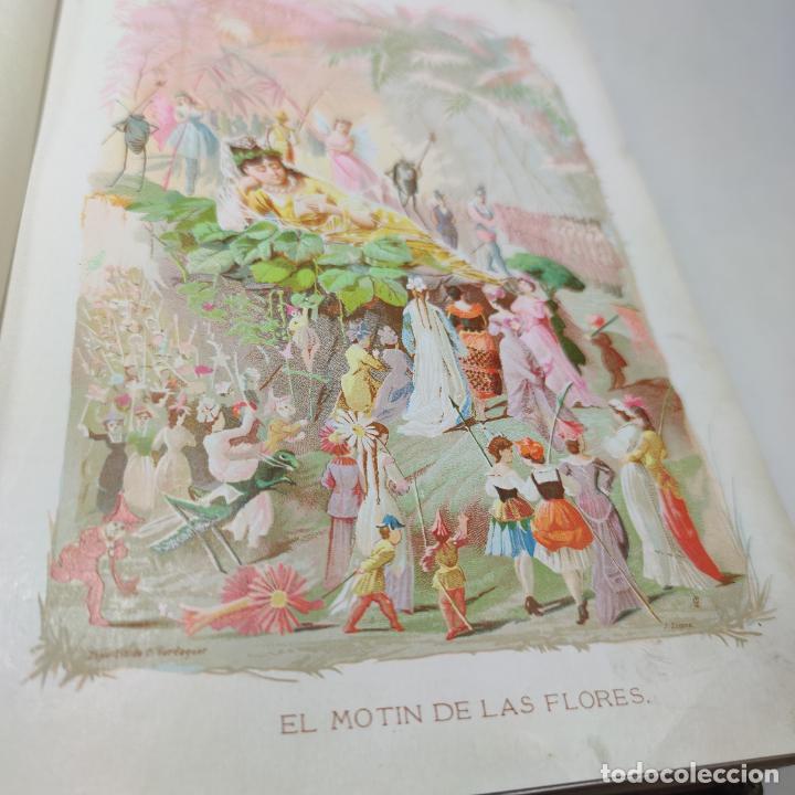 Libros antiguos: Preciosa obra La vida de las flores. Alfonso Karr y Taxile Delord. 2 tomos.Cientos litografías.1878 - Foto 9 - 257603235