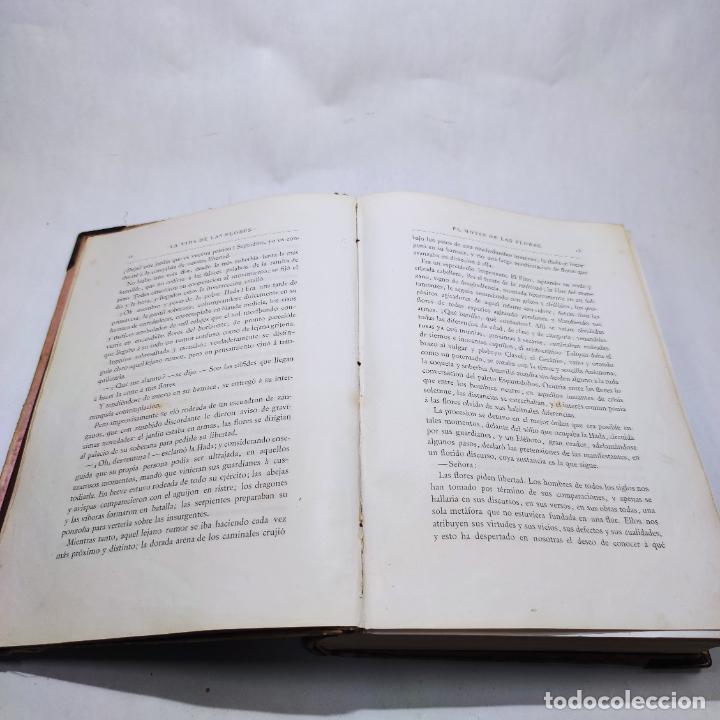 Libros antiguos: Preciosa obra La vida de las flores. Alfonso Karr y Taxile Delord. 2 tomos.Cientos litografías.1878 - Foto 10 - 257603235