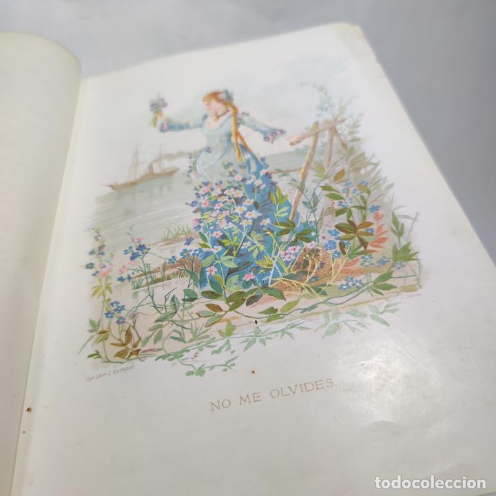 Libros antiguos: Preciosa obra La vida de las flores. Alfonso Karr y Taxile Delord. 2 tomos.Cientos litografías.1878 - Foto 12 - 257603235