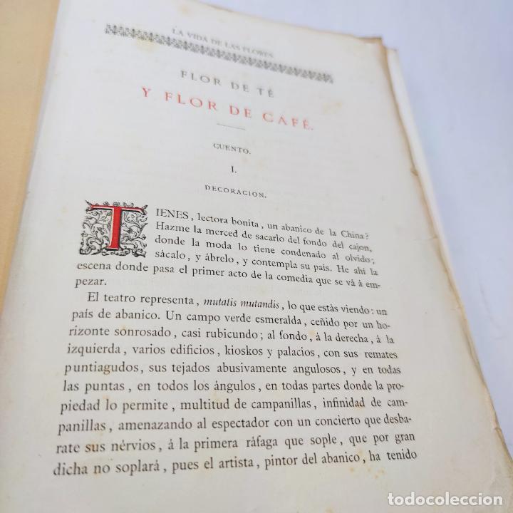 Libros antiguos: Preciosa obra La vida de las flores. Alfonso Karr y Taxile Delord. 2 tomos.Cientos litografías.1878 - Foto 26 - 257603235