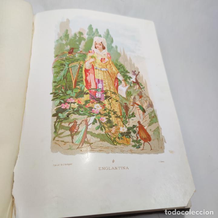 Libros antiguos: Preciosa obra La vida de las flores. Alfonso Karr y Taxile Delord. 2 tomos.Cientos litografías.1878 - Foto 28 - 257603235