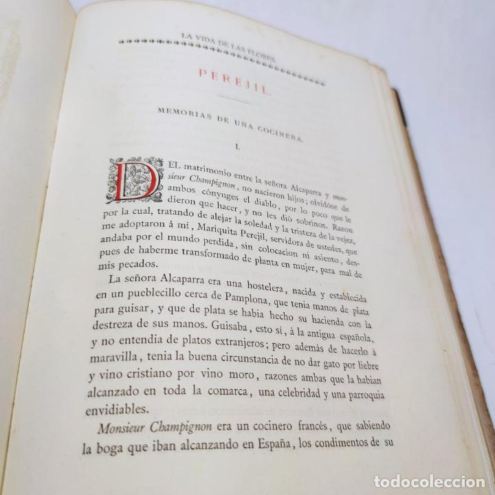 Libros antiguos: Preciosa obra La vida de las flores. Alfonso Karr y Taxile Delord. 2 tomos.Cientos litografías.1878 - Foto 30 - 257603235
