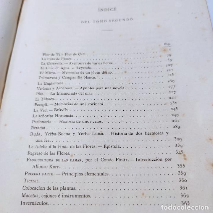 Libros antiguos: Preciosa obra La vida de las flores. Alfonso Karr y Taxile Delord. 2 tomos.Cientos litografías.1878 - Foto 31 - 257603235