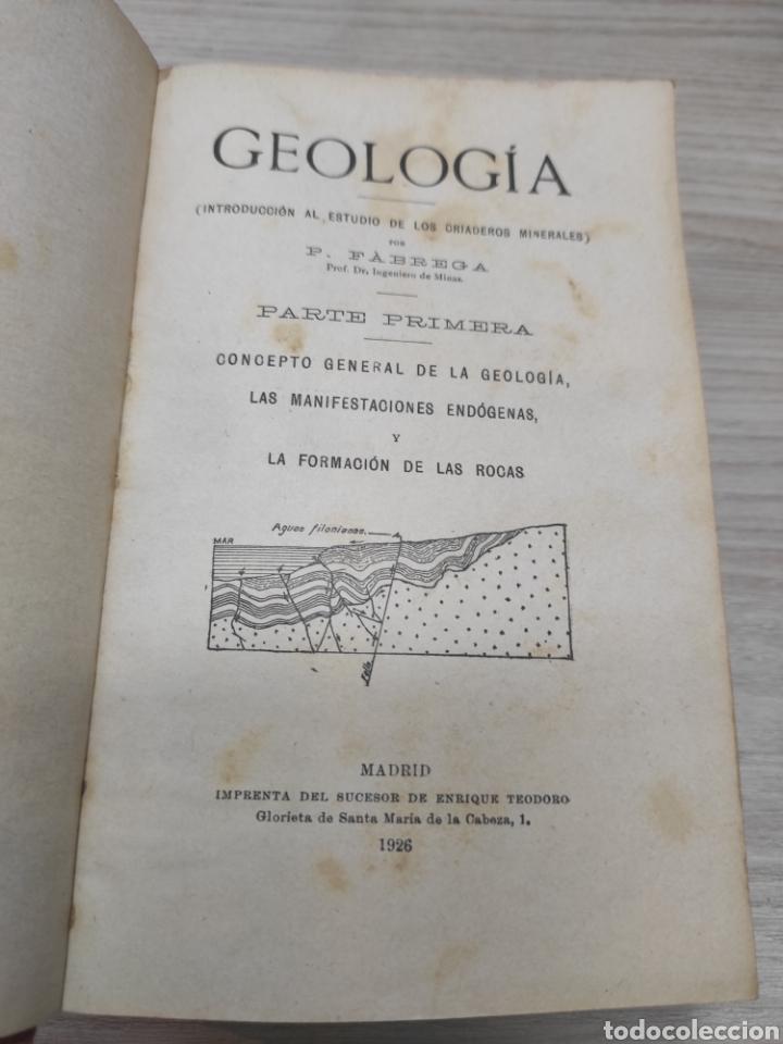 Libros antiguos: Geología P. Fábrega. 1926 - Foto 3 - 259221470