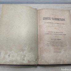 Libros antiguos: TRAITE GÉODÉSIE TACHÉOMÈTRIQUE.. Lote 259225495