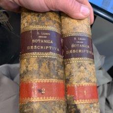 Libros antiguos: BOTANICA DESCRIPTIVA COMPENDIO FLORA ESPAÑOLA LAZARO E IBIZA TOMO I Y II 1896 1ª ED. Lote 260566735