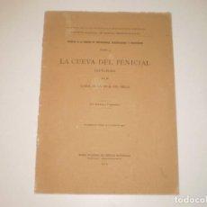 Libros antiguos: LIBRO ANTIGUO 1914 PALEONTOLOGÍA CUEVA DEL PENICIAL ASTURIAS CONDE DE LA VEGA DEL SELLA. Lote 260571060