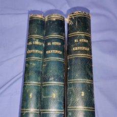 Libros antiguos: EL GENIO CIENTIFICO 3 TOMOS OBRA COMPLETA HABANA AÑO 1873. Lote 261104935