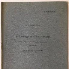 Libros antiguos: NOTA NECROLÒGICA. DOMINGO DE ORUETA I DUARTE I LES INVESTIGACIONS DE PETROGRAFIA QUANTITATIVA. - MAR. Lote 123213171