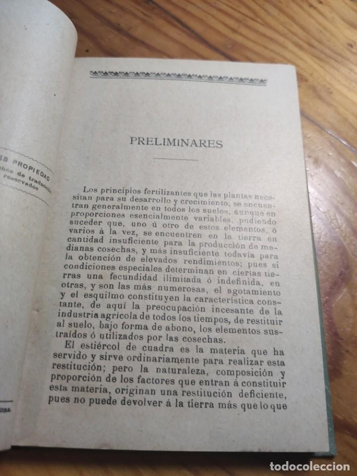 Libros antiguos: ABONOS INDUSTRIALES - MANUALES GALLACH (SOLER) Nº 20 - DR ANTONIO MAYLIN - Foto 5 - 261305515