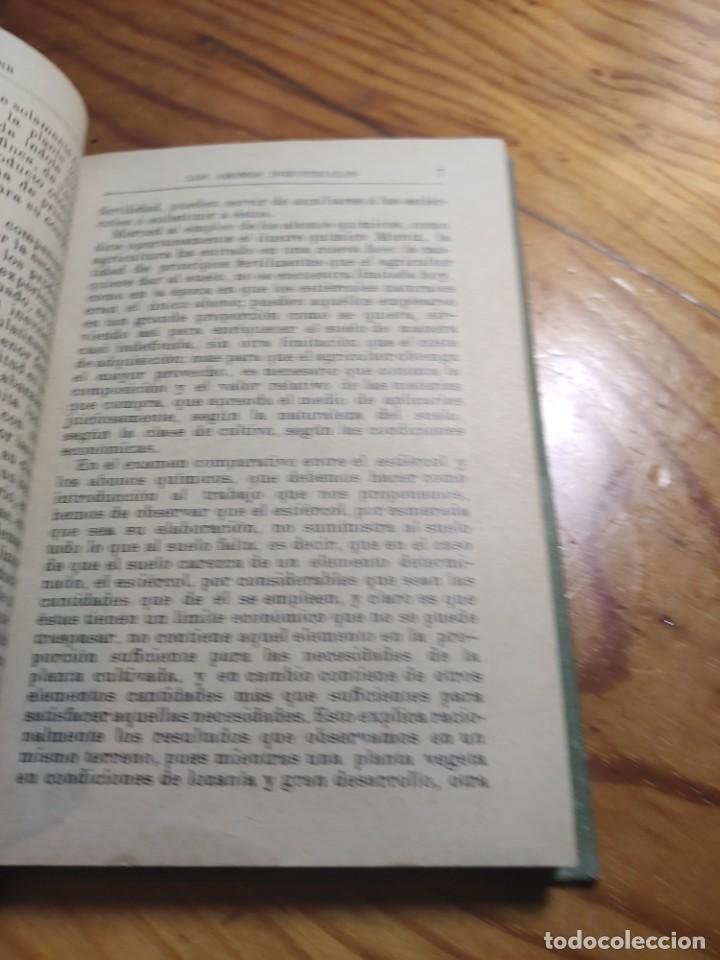 Libros antiguos: ABONOS INDUSTRIALES - MANUALES GALLACH (SOLER) Nº 20 - DR ANTONIO MAYLIN - Foto 6 - 261305515