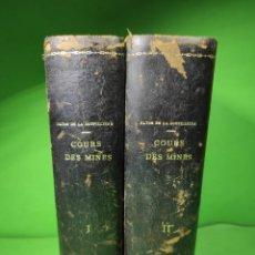 Libros antiguos: 1896 COURS D'EXPLOITATION DES MINES. Lote 261858000