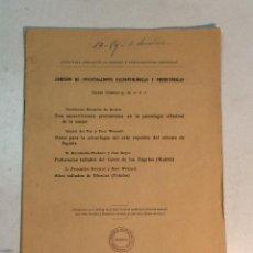 Libros antiguos: COMISIÓN DE INVESTIGACIONES PALEONTOLÓGICAS Y PREHISTÓRICAS. NOTAS 9, 10, 11 Y 12 (1917). Lote 262346485