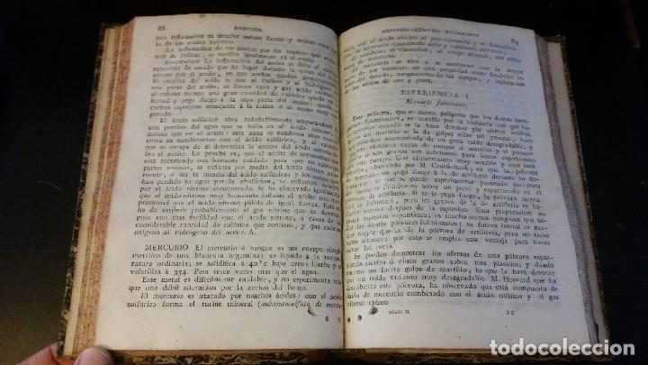 Libros antiguos: 1827 - HERPIN - Recreaciones químicas, ó Colección de esperiencias curiosas e instructivas. 2 tomos - Foto 11 - 262459380