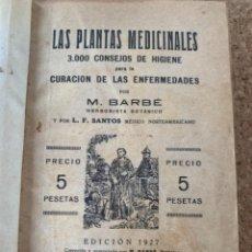 Libri antichi: LAS PLANTAS MEDICINALES (BOLS 6). Lote 265673144