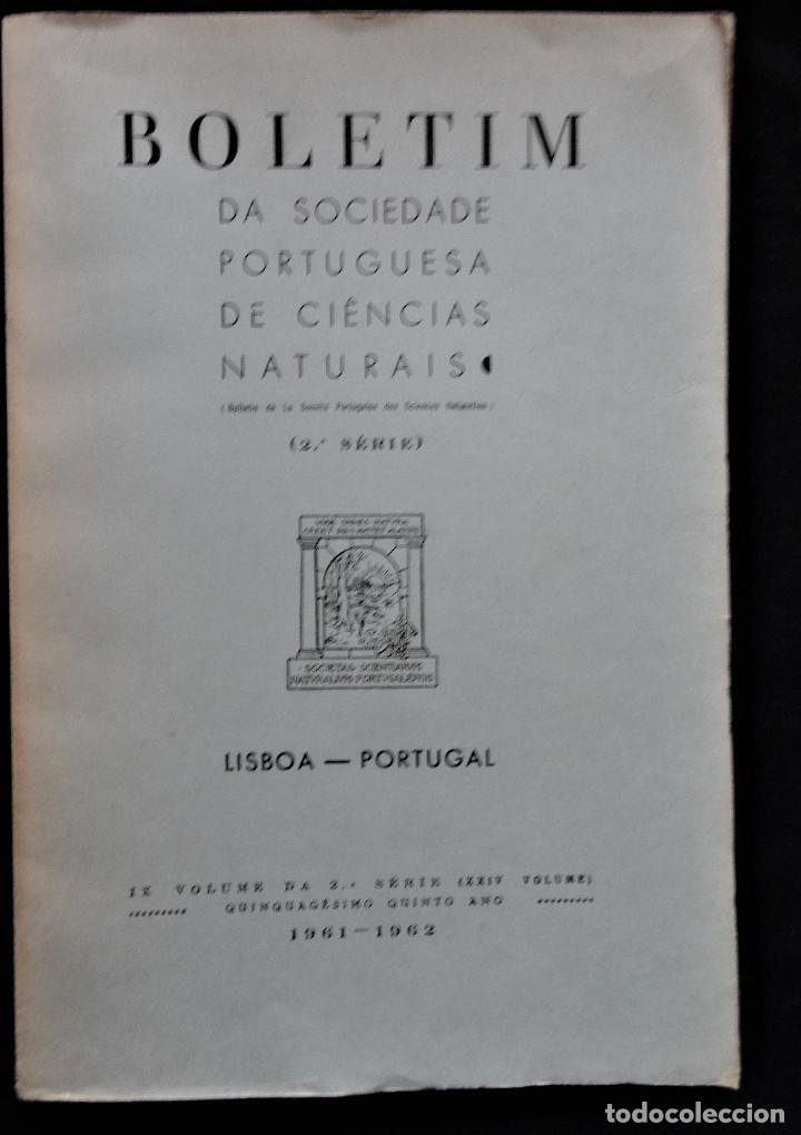 BOLETIM SOCIEDADE PORTUGUESA CIÊNCIAS NATURAIS - LISBOA 1961 - 1962. MAPA GEOLÓGICO MORTÁGUA (Libros Antiguos, Raros y Curiosos - Ciencias, Manuales y Oficios - Paleontología y Geología)