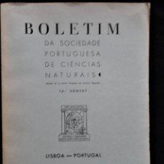 Libros antiguos: BOLETIM SOCIEDADE PORTUGUESA CIÊNCIAS NATURAIS - LISBOA 1961 - 1962. MAPA GEOLÓGICO MORTÁGUA. Lote 265804289