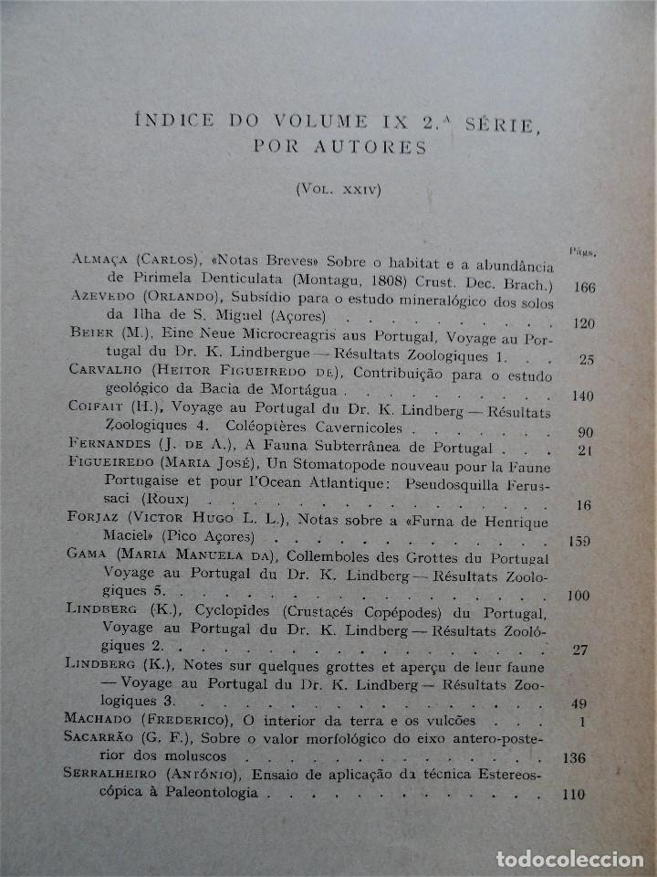Libros antiguos: BOLETIM SOCIEDADE PORTUGUESA CIÊNCIAS NATURAIS - Lisboa 1961 - 1962. Mapa Geológico Mortágua - Foto 9 - 265804289