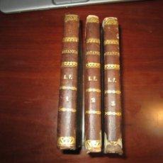 Libros antiguos: INTRODUCCION AL ESTUDIO DE LAS PLANTAS ANTONIO BLANCO FERNANDEZ 1845-46 MADRID 3 TOMOS. Lote 265857719