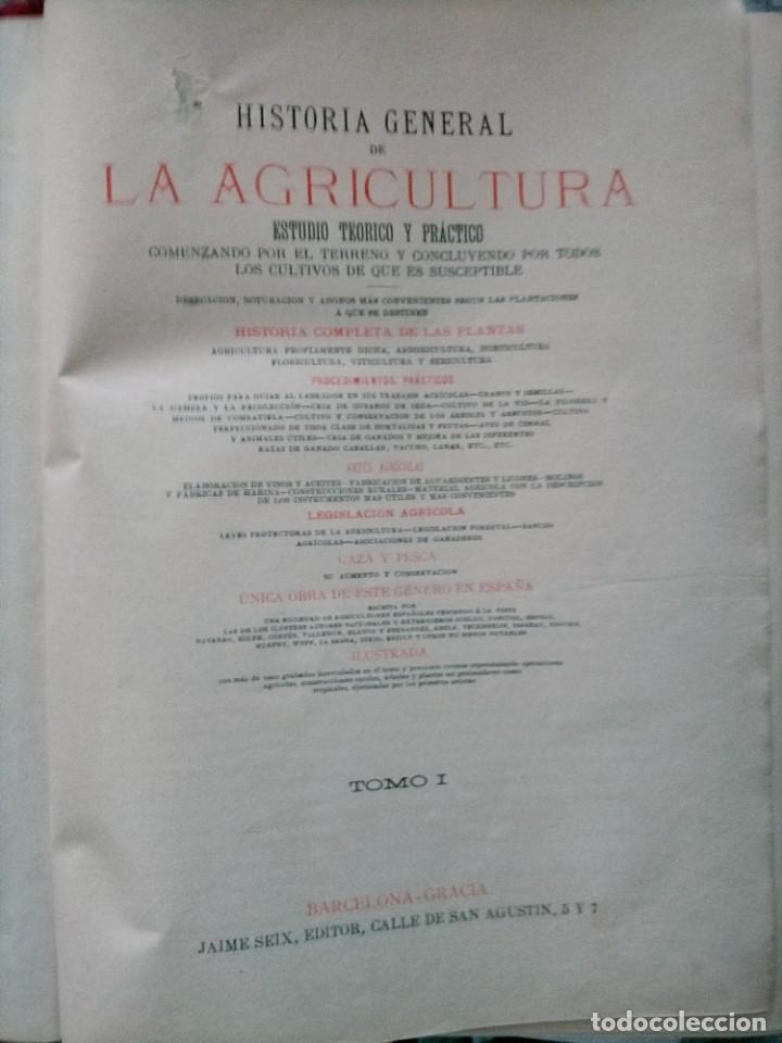 Libros antiguos: HISTORIA GENERAL DE LA AGRICULTURA TOMO 1 L. FIGUIER VER FOTOS J. SEX BARCELONA - Foto 6 - 268881529