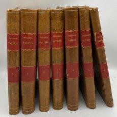 Libros antiguos: LA HISTORIA NATURAL. DR. A. E. BREHM. DEL TOMO 1 AL 7. EDITORES MONTANER Y SIMON.BARCELONA,1880-81.. Lote 269069853
