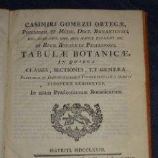 Libros antiguos: (MF) BOTANICA - CASIMIRI GOMEZII ORTEGAE - TABULAE BOTANICAE IN QUIBUS CLASSES , MATRITI MDCCLXXIII. Lote 269380243