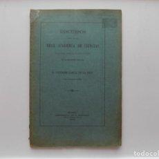 Libros antiguos: LIBRERIA GHOTICA. VICTORINO GARCIA DE LA CRUZ. DISCURSOS REAL ACADEMIA DE CIENCIAS.1903. FOLIO. Lote 269749433