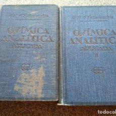 Libros antiguos: TRATADO DE QUIMICA ANALITICA APLICADA - 2 TOMOS - VICTOR VILLAVECCHIA -- GUSTAVO GIL EDITOR 1935 --. Lote 270088723