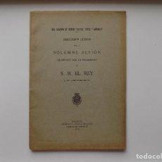 Libros antiguos: LIBRERIA GHOTICA. ACADEMIA DE CIENCIAS EXACTAS,FÍSICAS Y NATURALES. DISCURSOS. 1916.. Lote 270173673
