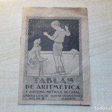 Libros antiguos: CURIOSO LIBRITO DE TABLAS DE ARITMÉTICA Y SISTEMA MÉTRICO DECIMAL AÑOS 30 VER DESCRIPCIÓN. Lote 275636688