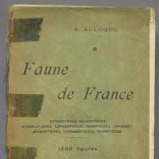 Libros antiguos: FAUNE DE FRANCE. LES POISSONS LES REPTILES, LES BATRACIENS, LES PROTOCHORDES. ACLOQUE. Lote 275685933