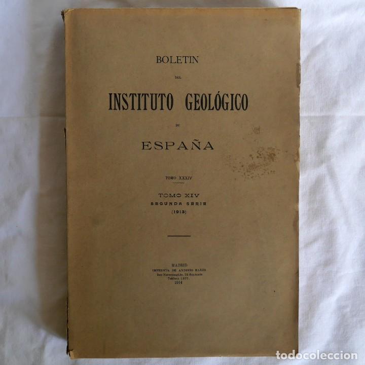 BOLETÍN DEL INSTITUTO GEOLÓGICO DE ESPAÑA INTONSO TOMO XIV 1914 (Libros Antiguos, Raros y Curiosos - Ciencias, Manuales y Oficios - Paleontología y Geología)
