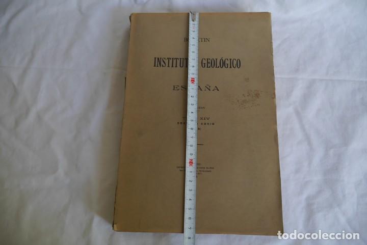Libros antiguos: Boletín del Instituto Geológico de España Intonso Tomo XIV 1914 - Foto 4 - 277622158